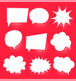 set of comic chat bubbles vector image vector image
