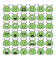Set of space aliens icons with different emotions vector image