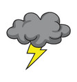 thunderstorm cloud hand drawn vector image