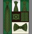 Tie and seamless pattern on it vector image