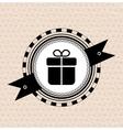 Vintage retro label tag badge gift icon vector image vector image
