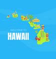welcome to hawaii banner template hawaiian vector image vector image