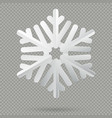 white realistic folded paper christmas snowflake vector image vector image