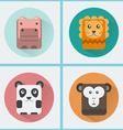 Wild Animals Icons Set vector image
