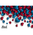 Realistic 3D Colorful Red and blue Romantic vector image