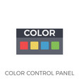 color control panel icon vector image