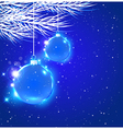 Abstract Christmas background with blue decoration vector image