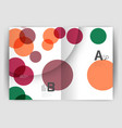 abstract circles annual report covers modern vector image vector image