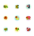 Ads icons set pop-art style vector image vector image