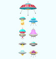alien spaceships set of ufo unidentified flying vector image vector image