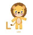 alphabet letter l lion