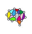 artificial intelligence brain icon - ai vector image
