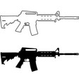 assault rifle vector image