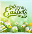 beautiful easter yellow green background vector image vector image