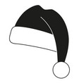 black and white christmas hat silhouette vector image vector image