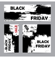 Black friday white set vector image