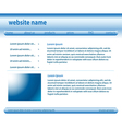 blue and white template - website layered vector image vector image
