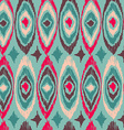 Boho vintage tribal shape pattern background vector image