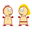 boy and girl funny vector image vector image
