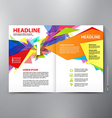Brochure design two pages a4 template vector image