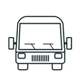 bus icon over white background isolated design vector image vector image