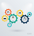 Business mechanism concept vector image vector image