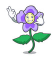 call me pansy flower mascot cartoon vector image