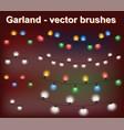 christmas lights - garland vector image