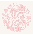 Circle made of flowers vector image vector image