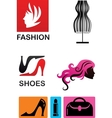 collection fashion icons and elements vector image vector image
