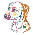 colorful decorative portrait of dog dalmatian vector image vector image