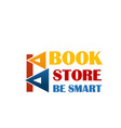 colorful sign for book market vector image vector image