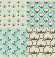 cotton flower floral seamless pattern vector image vector image