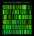 dark green gradients collection glowing patterns vector image vector image
