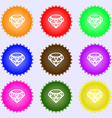 Diamond Icon sign Big set of colorful diverse vector image vector image