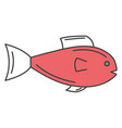 fish seafood isolated icon vector image