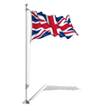 Flag Pole UK vector image vector image