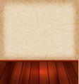 floral wallpaper and wooden floor vector image vector image