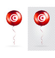 foil balloons in national flag tunisia vector image