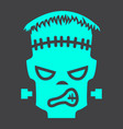 frankenstein glyph icon halloween and scary vector image vector image