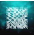 glass - cube hud element vector image