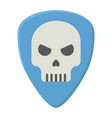 guitar pick with skull flat icon music vector image vector image