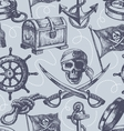 hand drawn pirate seamless pattern vector image
