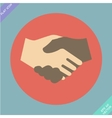 Handshake icon - vector image vector image