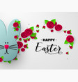 happy easter holiday design vector image vector image