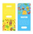 hawaii vacation landing page templates set summer vector image vector image