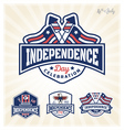 Independence day celebration badge vector image vector image