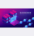 isometric blockchain revolution concept vector image vector image