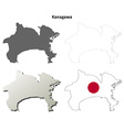 Kanagawa blank outline map set vector image vector image