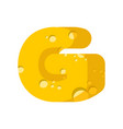letter g cheese font symbol of cheesy alphabet vector image